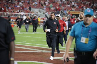 San Francisco 49ers vs Cowboys 49ers Head Coach Kyle Shanahan Photos by Tod Fierner ( Martinez News-Gazette )