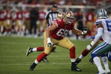 San Francisco 49ers vs Cowboys First round draft pick #69 Mike McGlinchey Photos by Tod Fierner ( Martinez News-Gazette )