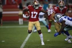 San Francisco 49ers vs Cowboys #17 WR Victor Bolden Jr. Photos by Tod Fierner ( Martinez News-Gazette )
