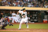 Oaklands A's vs LA Dodger's Rookie #22 CF Ramon Laureano Photos by Tod Fierner ( Martinez News-Gazette )