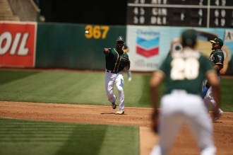 Oakland Athletics vs Toronto Blue Jay's #10 SS Marcus Semiem A's win 8-3 Photos by Tod Fierner ( Martinez News-Gazette )