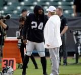 Oakland Raiders vs Detroit Lions Marshawn with Mark Davis Photos by Gerome Wright ( Martinez News-Gazette )