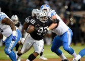 Oakland Raiders vs Detroit Lions #92 DT P.J. Hall Photos by Gerome Wright ( Martinez News-Gazette )