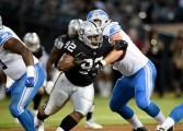 Oakland Raiders vs Detroit Lions #92 DT P.J. Hall Photos by Gerome Wright ( Martinez News-Gazette )