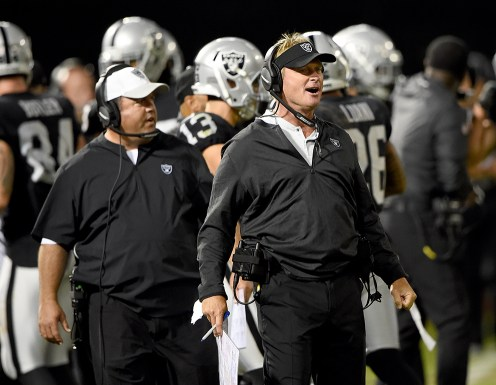 Oakland Raiders vs Detroit Lions Head Coach Jon Gruden Photos by Gerome Wright ( Martinez News-Gazette )