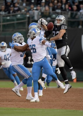Oakland Raiders vs Detroit Lions #82 WR Jordy Nelson with a great catch Photos by Gerome Wright ( Martinez News-Gazette )