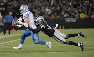 Oakland Raiders vs Detroit Lions #35 CB Shareece Wright Photos by Gerome Wright ( Martinez News-Gazette )