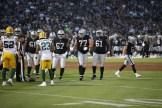 Oakland Raiders vs Green Bay Packers #77 LT Kolton Miller Photos by Tod Fierner ( Martinez News-Gazette )