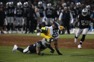 Oakland Raiders vs Green Bay Packers #56 MLB Derrick Johnson Photos by Tod Fierner ( Martinez News-Gazette )