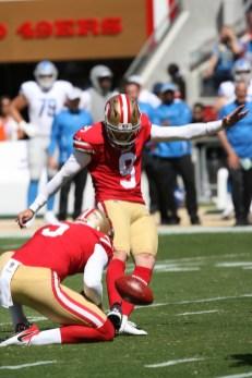 San Francisco 49ers vs Detroit Lions #9 K Robbie Gould Photos by Tod Fierner (Martinez News-Gazette)