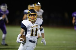 Alhambra Bulldogs vs College Park Falcons #11 WR Mark Radke Photos by Tod Fierner ( Martinez News-Gazette )