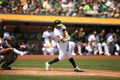 Oakland A's vs New York Yankees #2 DH Krash Davis Photos by Tod Fierner ( Martinez News-Gazette )