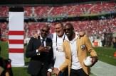 San Francisco 49ers vs Los Angeles Rams Jerry Rice, Brent Jones & Terrell Owens Photos by Tod Fierner (Martinez News-Gazette)