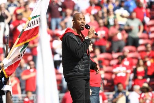 San Francisco 49ers vs Los Angeles Rams Montell Jordan Photos by Tod Fierner (Martinez News-Gazette)