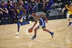 GS Warriors vs LA Lakers #28 SF Alfonzo McKinnie Photos by Kym Fortino (Martinez News-Gazette)