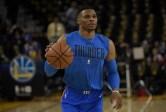 Golden State Warriors vs Oklahoma City Thunder #0 PG Russell Westbrook Photos by Gerome (Martinez News-Gazette)
