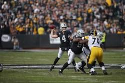 Oakland Raiders vs Pittsburgh Steelers QB #4 Derek Carr Photos by Tod Fierner ( Martinez News-Gazette )