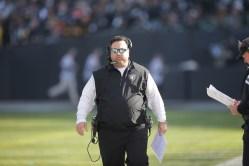 Oakland Raiders vs Pittsburgh Steelers D- coordinator Paul Guenther Photos by Tod Fierner ( Martinez News-Gazette )