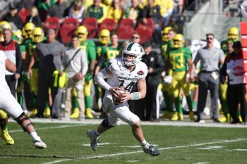 Michigan State Spartans vs Oregon Ducks Michigan St. #14 Jr. QB Brian Lewerke Redbox Bowl