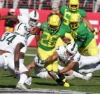 Michigan State Spartans vs Oregon Ducks #26 Fr. RB Travis Dye Redbox Bowl