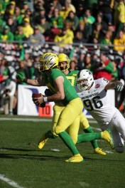 Michigan State Spartans vs Oregon Ducks #96 Spartans So.DE Jacub Panasuik with a Sacks Redbox Bowl