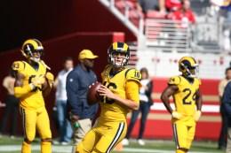 Los Angeles Rams vs New England Patriots #16 Rams QB Jared Goff Photos by Tod Fierner (MTZ Gazette)