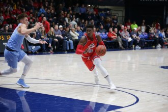 Saint Mary's Gaels vs San Diego Toreros #24 Malik Fitts drives to the hole Photos by Tod Fierner (MTZ Gazette)