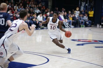 Saint Mary's Gaels vs BYU Cougars #10 Forward Elijah Thomas Photos by Tod Fierner (Saint Mary's College)