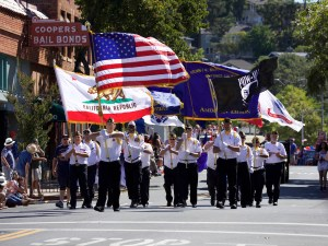 American Legion Post 29 march in the July 4th parade.