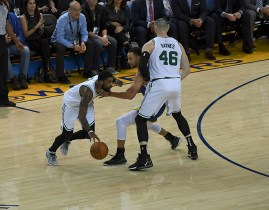 March 05, 2019 :Oakland, California, United States: against the Boston Celtics vs Golden State Warriors at Oracle Arena. Celtics defeated Warriors 128-95. Credit: Gerome Wright