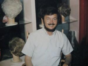 Jeff's father at his shop in Santa Cruz.