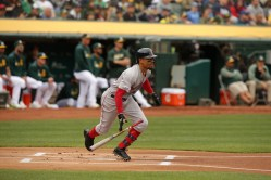 Oakland A's vs Boston Red Sox Mookie Betts