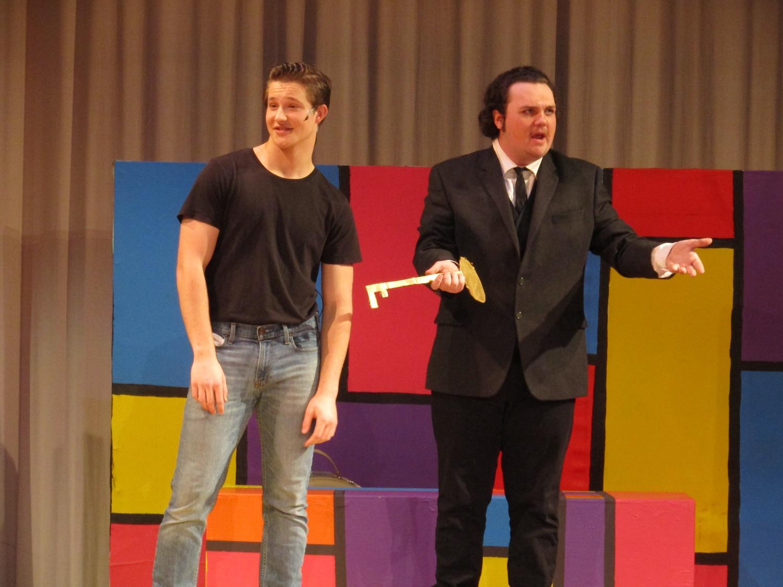 Divid Miller as Conrad Birdie and Jack Boerner as Mayer