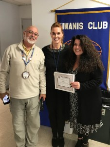 Denis Smith,  Martinez Kiwanis President; Lara DeLaney, Martinez Councilmember; and Debbie Toth, Speaker