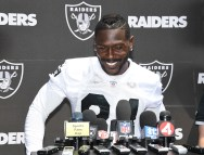 Oakland Raiders OTA #84 WR Antonio Brown