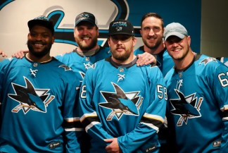 San Jose Sharks vs Colorado Avalanche Game Seven. 49ers Offensive Line Photos by Guri Dhaliwal (Martinez News-Gazette)