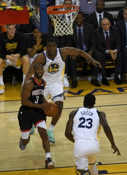 Golden State Warrios vs Houston Rockets Game five NBA Playoffs. Photos by Gerome Wright (Martinez News-Gazette)