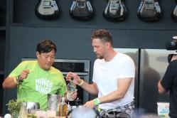 Chef Ming Tsai with Hunter Pence making MINGS BINGS
