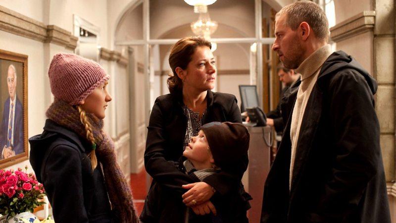 "Birgitte Nyborg con su familia en ""Borgen"" Foto: BBC"