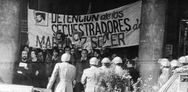 Manifestación de periodistas contra mi secuestro y torturas.