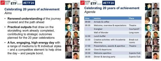 #ETF20 aims & agenda