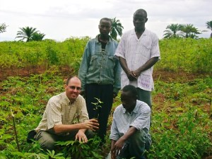 Martin with the Abeka tree planting team