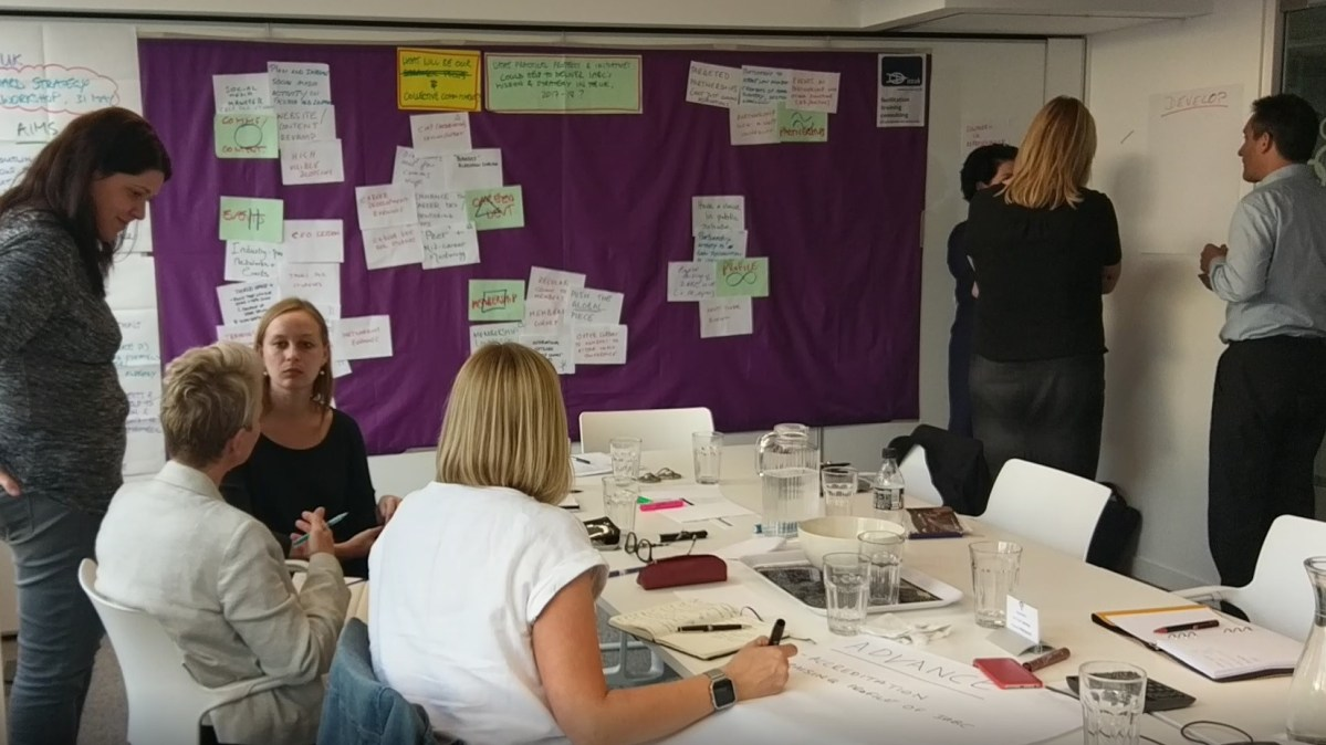 IABC UK Board strategy away day, 2017 in London - photo & facilitation Martin Gilbraith #ToPfacilitation 1