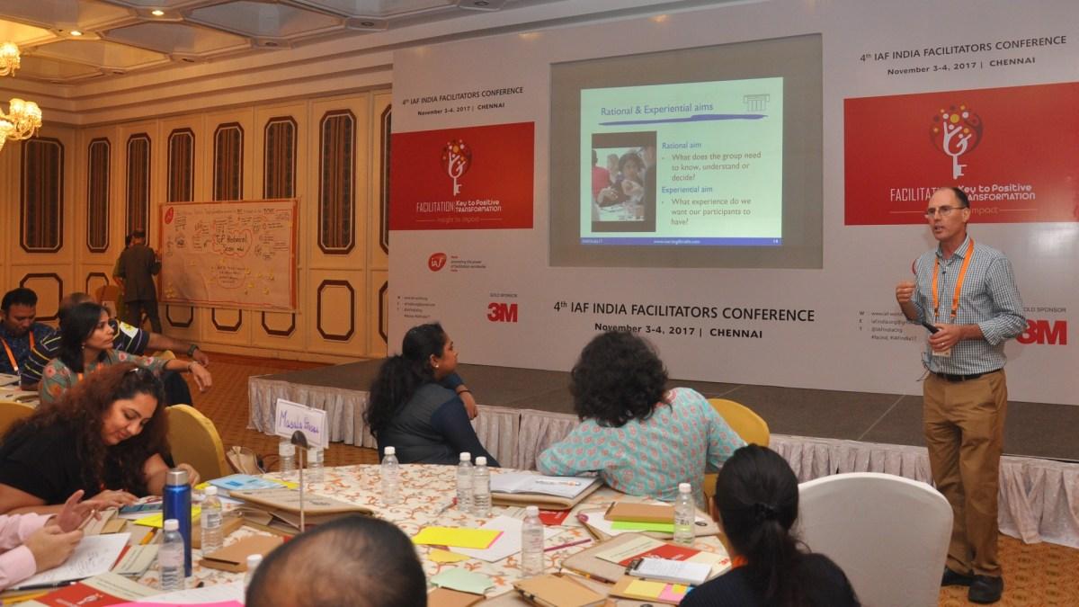 IAF India Conference, 2017 in Chennai - photo IAF India, facilitation Martin Gilbraith #ToPfacilitation #IAFIndia17 3