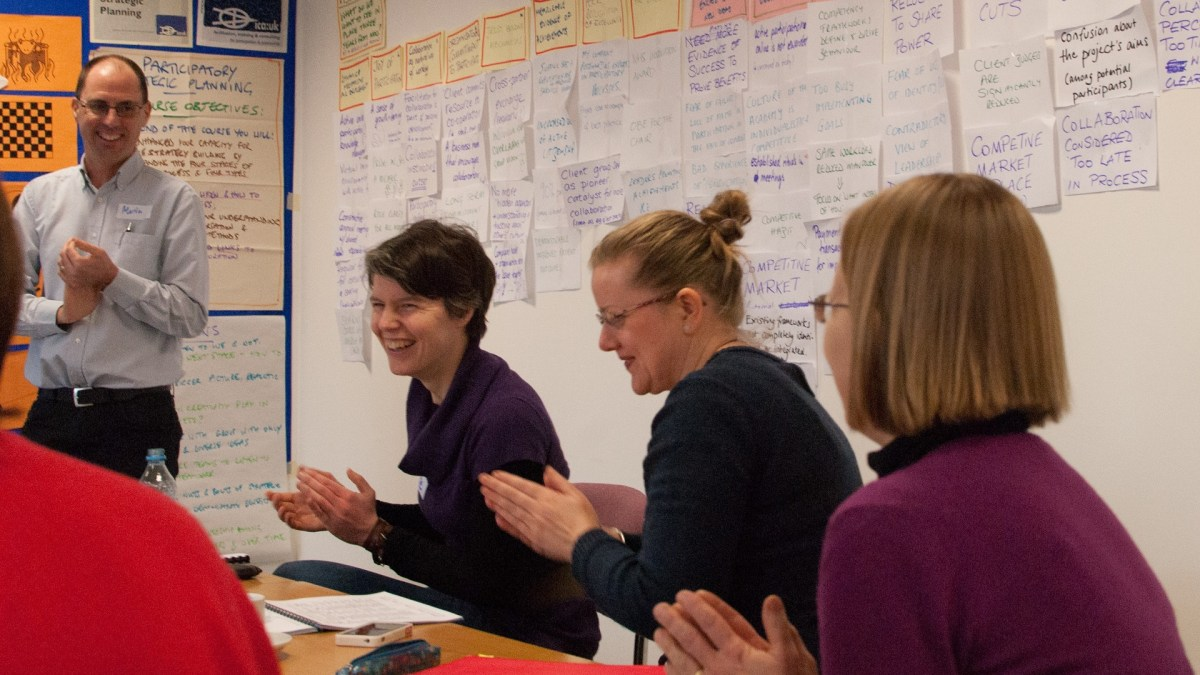 ICAUK ToP Participatory Strategic Planning training, 2013 at NCVO in London - photo Adam Swann, facilitation Martin Gilbraith #ToPfacilitation 1