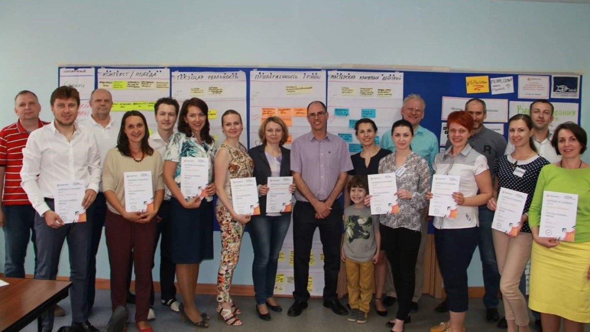 ToP Group Facilitation Methods training, 2015 with Rules Play in Moscow - photo Rules Play, facilitation Martin Gilbraith #ToPfacilitation,