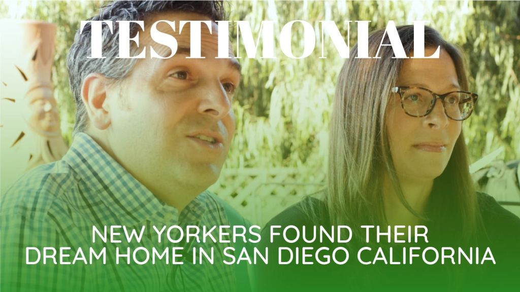 New Yorkers found their dream home in San Diego California