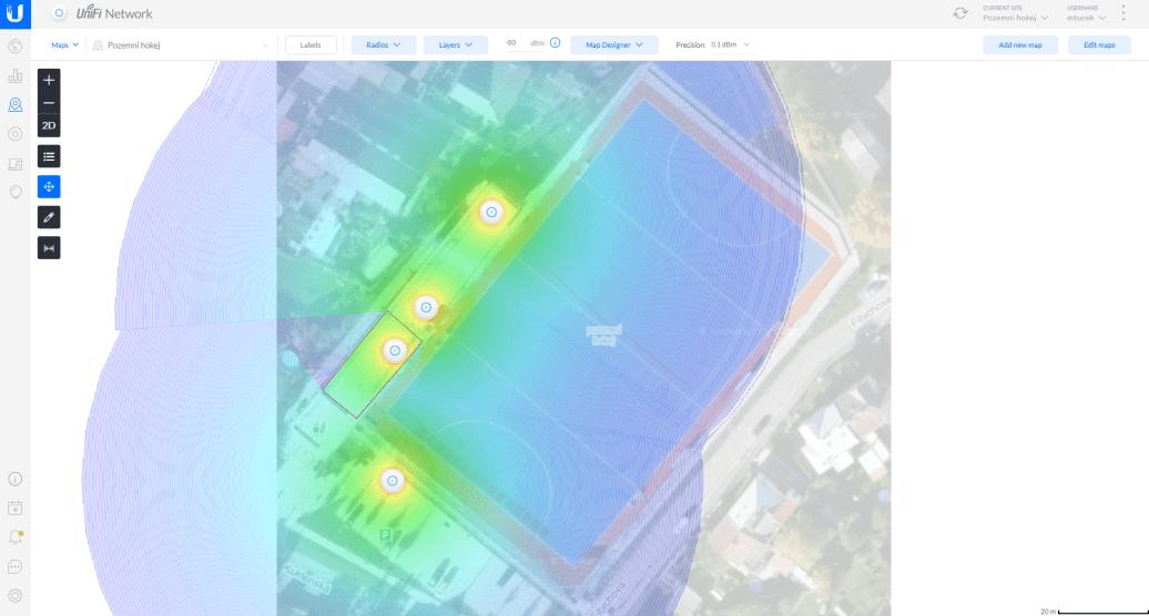 UniFi controller heat map