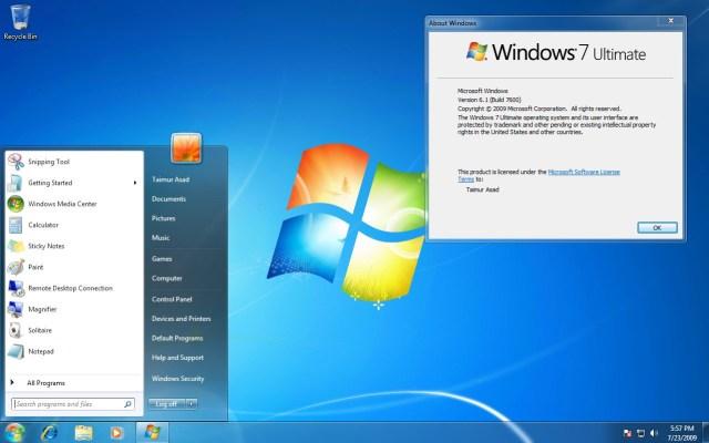 Prostředí Windows 7
