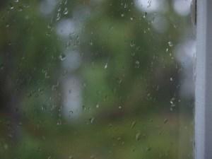 Regn på fönster